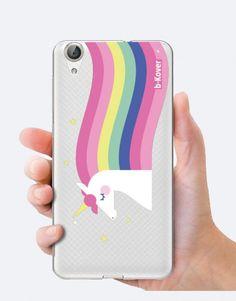 funda-movil-unicornio-rainbow hair Rainbow Hair, Phone Cases, See Through, Mobile Cases, Unicorns, Colourful Hair