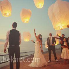 Floating Reception Lanterns