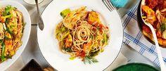 Kycklinggryta med fänkål och pasta.