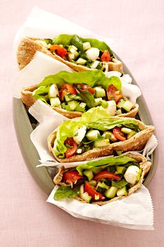 nice 15 No-Cook Dinner Recipes. Caprese pita sandwiches, red pepper hummus, Indian s. Lunch Recipes, Dinner Recipes, Cooking Recipes, Healthy Recipes, Pita Recipes, Summer Recipes, Healthy Menu, Sandwich Recipes, Kitchen Recipes