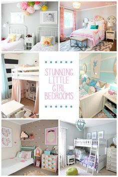15 Stunning Little Girl Bedroom Ideas Toddler Girl Bedrooms, Childrens Bedroom Ideas, Kids Bedroom Ideas For Girls Toddler, Girl Rooms, Girls Room Paint, Bedroom Kids, Diy Bedroom, Bed Rooms, Tween Girls
