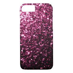 Beautiful Pink glitter sparkles iPhone 7 Case