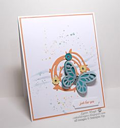 Cattail Designs: GDP075 card challenge, Just for You Butterfly Thinlits, Bold Butterfly, Swirly Scribbles,