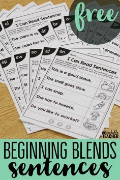 100+ pages of targeted phonics skill sentences for FREE!