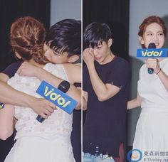 26 june 2016 press conference of refresh man // he was crying cuz his drama ended and joanne was supporting her❤️
