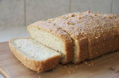 A low carb bread that is simple to make and baked with almond flour. Delicious sliced and toasted for breakfast this has only net carbs a slice. Low Carb Bread, Keto Bread, Low Carb Keto, Low Carb Recipes, Paleo Recipes, Almond Flour Bread, Baking With Almond Flour, Almond Cookies, Keto Cookies