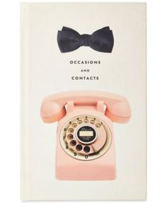 Sure, you could go with the classic little black book to hold your beaus, besties and big dates, but this one (adorned with a pink telephone and little black bow) is much cuter, no? Address book from