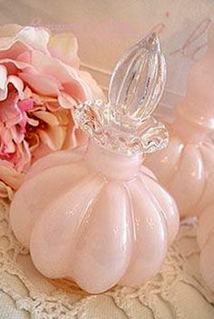Antique Vintage Pink Fenton glass perfume scent bottle