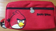 Imported Rovio Angry Birds Zippered Cosmetic Bag / Pencil Case / Pouch - RED . $14.50