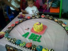 pista de cupcakes