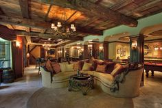 Overview of the lower level. - rustic - Basement - Chicago - Langguth Design Ltd.