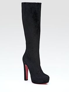 super sexy christian louboutin platform suede knee-high boots! only $1,595.00 hahaha