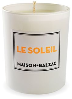 le soleil candle by maison balzac $45