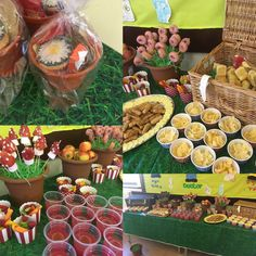 A birthday buffet for toddlers with an 'in the night garden theme'