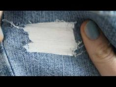 ♥ How to Rip and Distress your Jeans the right way- SO Easy ♥ ( • ◡ • ) - YouTube