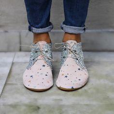 Anniel Soft Shoes Glitter Stars Bicolor www.annielmoda.com