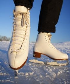 Although I don't ice skate much anymore, I loved it as a kid. My dream was to become a figure skater. That dream subsided when I got into running. There is nothing like gliding on fresh ice. Figure Ice Skates, Figure Skating, Luge, Winter Fun, Winter Sports, Ice Skaters, Paddle Boarding, Combat Boots, Kayaking