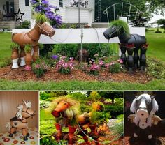 Clay Pot Horses The WHOot These are too cute! I'd like to make one for the front of the house!