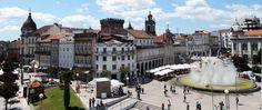 Imagem do centro da cidade de Braga, Portugal