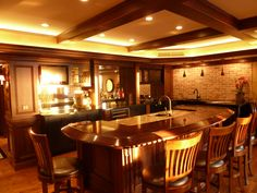 Basement bar perfect for entertaining lots of friends