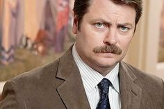 I love .gifs. Ron Swanson, a.k.a. Nick Offerman, who has made seething constipation the one thing I look forward to most in 'Parks and Rec'.