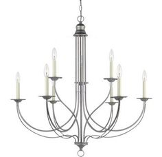 View the Sea Gull Lighting 31295 Plymouth 9 Light Double Tier Candle Style Chandelier at LightingDirect.com.