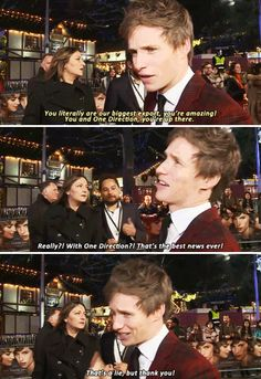 And, finally, when he had the most quintessentially British response to being told he's a national treasure. 23 Times Eddie Redmayne Was Too Precious For This World Harry Potter Universal, Harry Potter Fandom, Harry Potter World, Eddie Redmayne, Tom Hiddleston, Gellert Grindelwald, Fantastic Beasts And Where, Mischief Managed, Hogwarts