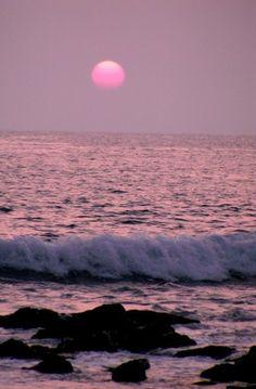 Pink Sunset Kona Hawaii