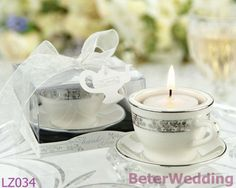 craft supplies Teacups tea light candle Holders Wedding Favors LZ034 Wedding Gifts_Wedding Souvenirs