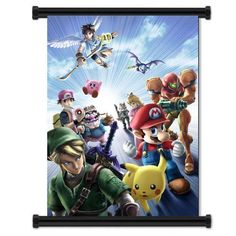Super Smash Bros Brawl Game Fabric Wall Scroll Poster (32'x42') Inches * For more information, visit now : DIY : Do It Yourself Today