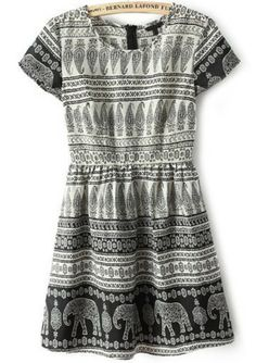 This dress would be perfect on my friend Anne, who has long, big amazing red curls. Its the perfect boho dress for the moments you're feeling like not being head to toe colors. $24