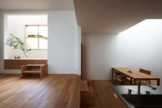 tato architects/yo shimada: nooks, movable stairs, wood platforms over concrete floors...