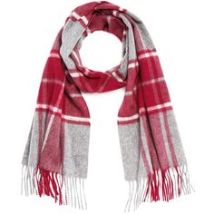C by Bloomingdale's Cashmere Plaid Scarf (€120) ❤ liked on Polyvore featuring accessories, scarves, tartan shawl, tartan plaid scarves, tartan cashmere scarves, cashmere scarves and tartan plaid shawl