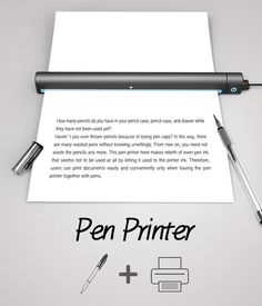 Pen Printer #concept by Tae-jin Kim & Su-in Kim to recycle old pens.