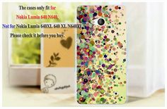 Hard Plastic Soft TPU Silicon Phone Case For Microsoft Nokia Lumia 640 N640 DUAL SIM Cover Colorful Flowers Protective Shell Bag