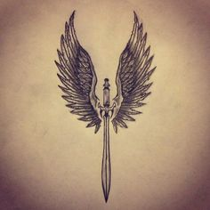 Wings / Sword tattoo sketch by - Ranz: . Angel Wings / Sword tattoo sketch by - Ranz: . Angel Wings / Sword tattoo sketch by - Ranz: . Phoenix Ink drawing by Doriana Po. Marine Tattoo, Chinese Tattoo Designs, Wing Tattoo Designs, Trendy Tattoos, Tattoos For Guys, Cool Tattoos, 3d Tattoos, Animal Tattoos, Colorful Tattoos