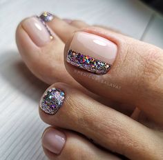 Gel Toe Nails, Feet Nails, Pedicure Nails, Toe Nail Art, Pedicures, Pedicure Ideas, Pretty Toe Nails, Cute Toe Nails, Fancy Nails