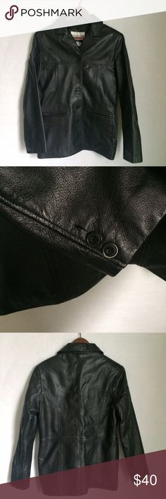✨NEW Listing✨Charles Klein leather jacket Charles Klein black leather button front jacket. **Missing one button on right sleeve cuff, as pictured.** Interior pocket and two front pockets. Size M. 100% leather. Lining: 100% polyester. Not interested in trades. Charles Klein Jackets & Coats