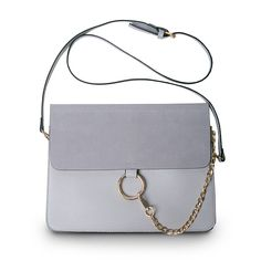 Luxury Brand Women Messenger Bags Chains Patchwork Shoulder Crossbody Bag Ladies Metal Ring Leather Stella Bag Clutch Sac A Main ** More info could be found at the image url.