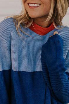 Colorblock Sweater w