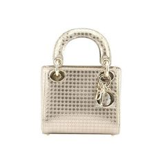 Pre-owned Christian Dior Micro Lady Dior Gold Cannage Leather Satchel ($3,300) ❤ liked on Polyvore featuring bags, handbags, gold leather handbags, genuine leather handbags, leather satchel purse, top handle purse and brown leather handbags