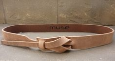Safari Outback Skinny Leather Belt in Taupe by Muse 1 inch