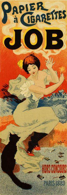 Art Nouveau poster ~ Job ~ Papier á cigarettes.