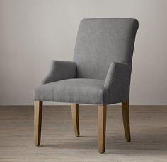 Hudson Roll-Back Fabric Armchair