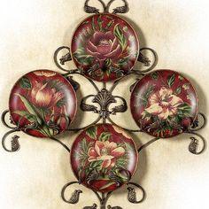 Decorative Wall Plates Set magnolia flowers decorative plate set   home decor   pinterest