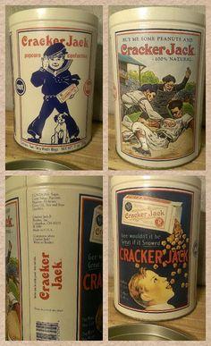 #CrackerJack #Caramel #Popcorn #Vintage #Tin by #TheRecycledGreenRose #Etsy @epsteam