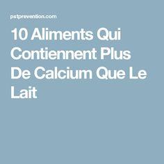 10 Aliments Qui Contiennent Plus De Calcium Que Le Lait
