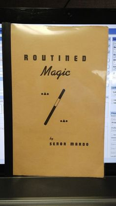 ROUTINED MAGIC BY SENOR MARDO BOOKLET 1945 MAX HOLDEN Please check out all our rare value priced Magic tricks & Books at: http://stores.ebay.com/webrummage