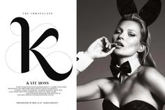 Kate Moss for Playboy 60th Anniversary Issue by Mert & Marcus