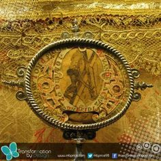 St. John of the Cross created the above work, an overhead view of Jesus Christ crucified.  St. John's rendition inspired Salvador Dali to create similar imagery.  This relic is housed at Incarnacion in Avila where St. Teresa lived and became prioress.
